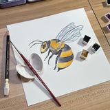 Honey Bee Insect Animal-Giclee Art Print #savethebees