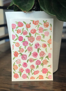 "3/20 Day 2 $2- Floral Pattern #1, 6""x 9"" Original Watercolor Painting"