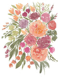 Floral No. 9 Nosegay Bouquet Flowers Giclee Art Print