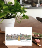 3D Sacramento Skyline-  A7 Greeting Card/ 5x7 Art Print
