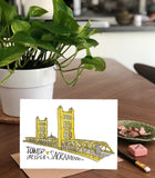 Tower Bridge, Sacramento California -  A7 Greeting Card/ 5x7 Art Print
