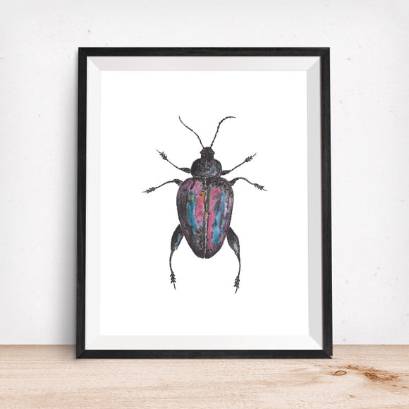 Metallic Beetle-Giclee Art Print