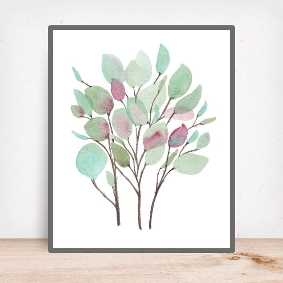Botanical No. 1 Vibrant Foliage- Art Print
