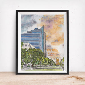 Capitol Mall 2.0 Tower Bridge View, Sacramento, CA Art Print