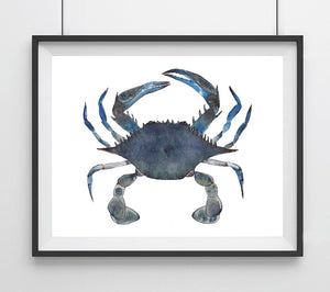 Sealife Series, Blue Crab- Art Print