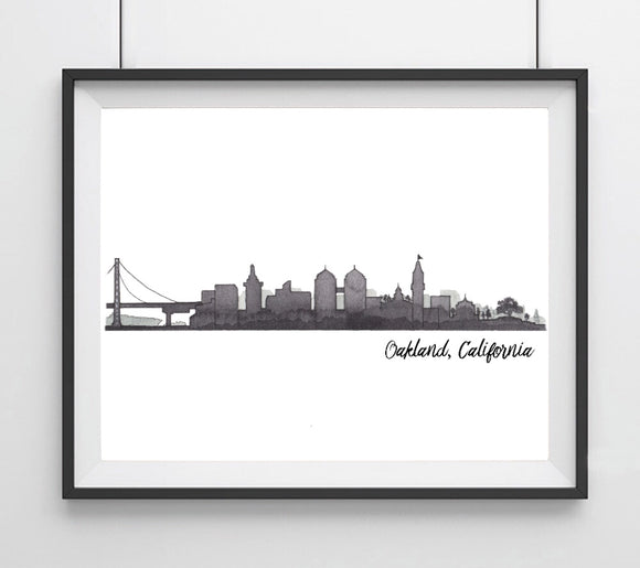 CIty Skyline- Oakland, CA Art Print