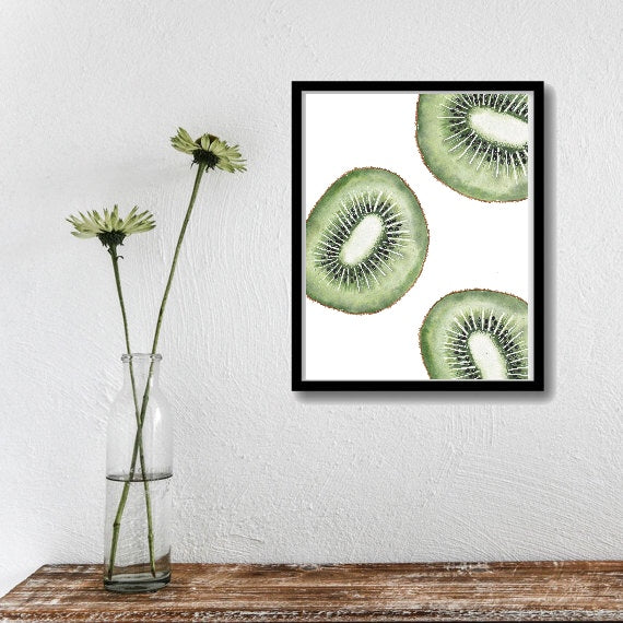 Kiwi Slices Art Print
