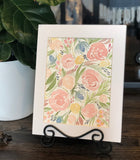 "4/10 Day 23 $23 8.5x11"" Peach Floral Pattern- Flowers Original Watercolor Painting"
