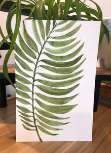 "3/20 Day 2 $2- Botanical- Palm Leaf, 6""x 9"" Original Watercolor Painting"