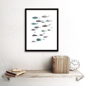 Sealife Series, School of Fish- Art Print