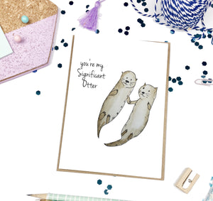Significant Otter- Love A2 Greeting Card