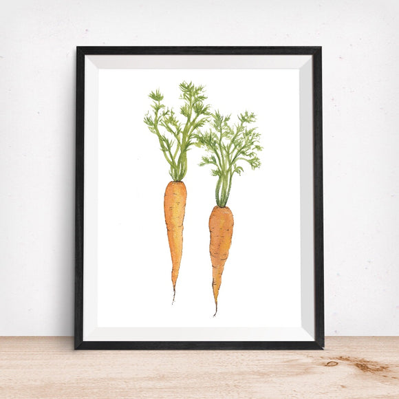 Carrot Duo Art Print