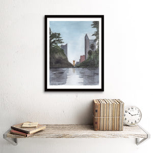 Capitol Mall Tower Bridge View, Sacramento, CA Art Print