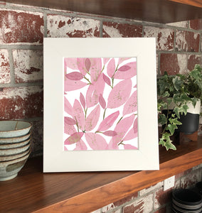 "NEW Aglaonema Lady Valentine 9x12"" Original Watercolor Painting- Pink & Green Mini Houseplant Collection"
