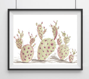 Extra Prickly Pear Cactus- Cacti Art Print