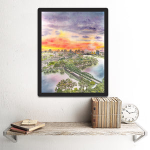 Sacramento, CA-Jibboom Street Bridge View, Giclee Art Print