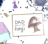 Father's Day, Dad Fungi- A7 Greeting Card