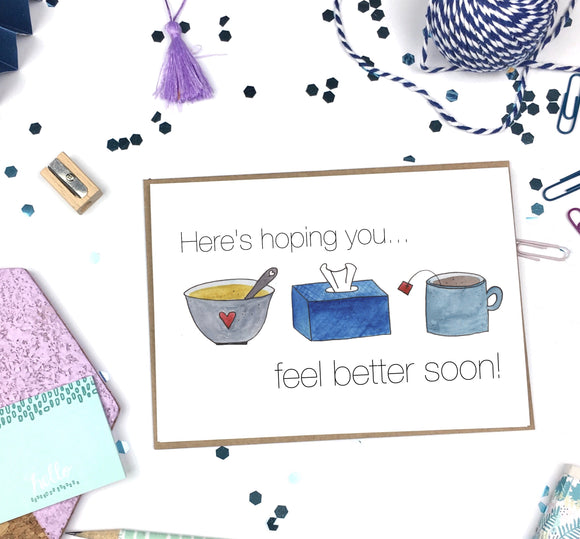 Feel Better Soon- A2 Greeting Card