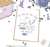 Congrats, Leap and Fly- A2 Greeting Card