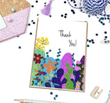Thank You, Colorful Cacti- A2 Greeting Card