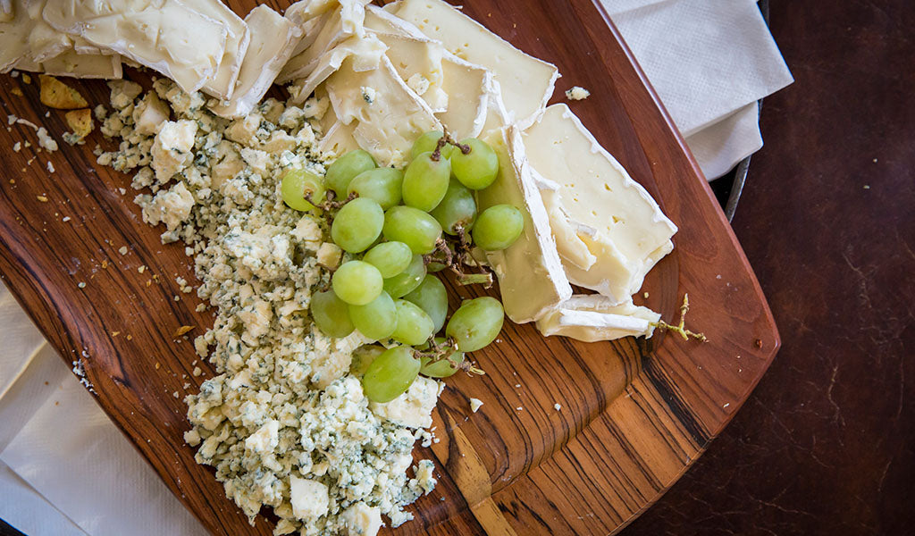 Cheese plate at Tahoe Quarterly release party at Tahoe University store in Truckee, CA