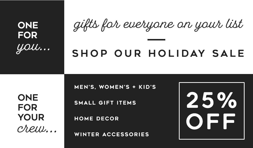 Gifts for everyone on your list Shop Our Holiday Sale 25% OFF at Tahoe University clothing, gifts, accesories