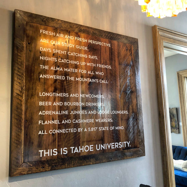 Tahoe University Motto