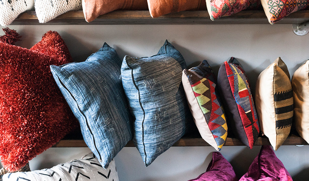 Assorted decorative throw pillows at Tahoe University