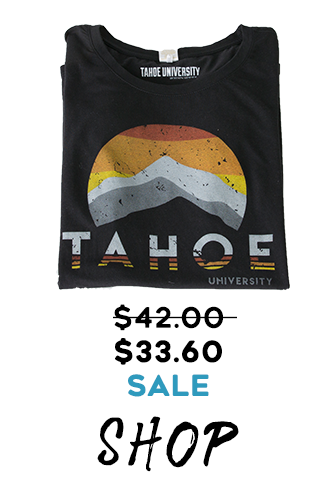 Tahoe U Original Circle Mountain Black Women's t-shirt on sale