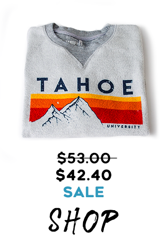 Tahoe U Original Retro Mtn Stripe crewneck sweatshirt on sale 20% Off