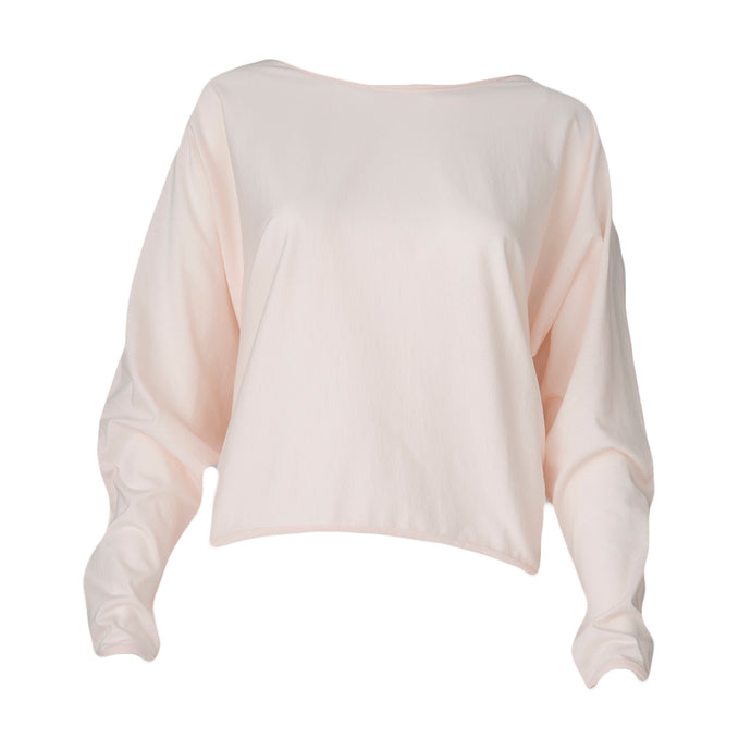 Relaxed Long Sleeve Pullover (Tea Rose)