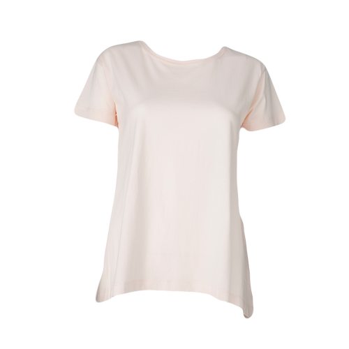Relaxed high low tee tea rose