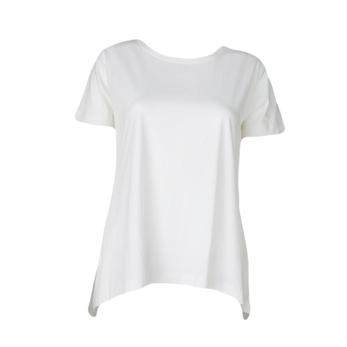 Relaxed High Low Tee (White)