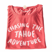 Chasing The Tahoe Adventure Brick Red T Shirt