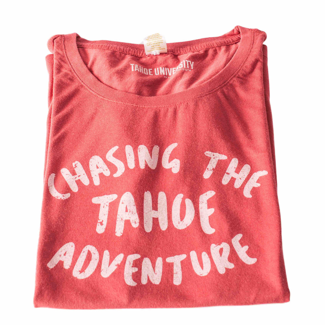 Chasing The Tahoe Adventure Brick Red T Shirt | Tahoe Clothing | Tahoe Apparel