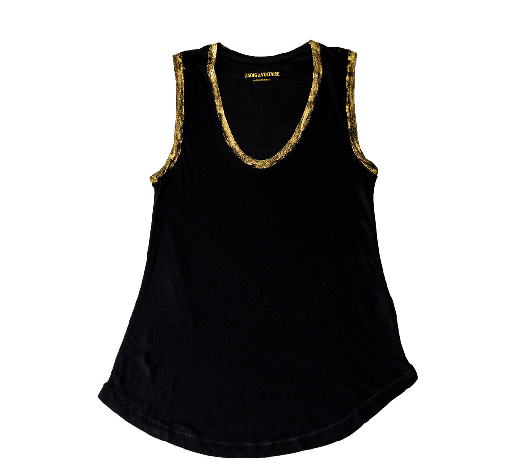 Tam Gold Modal Tank by Zadig + Voltaire