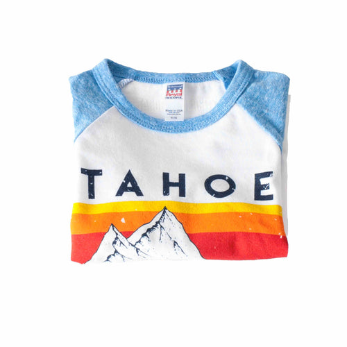 Kids Long Sleeve T-Shirt I Tahoe U Retro Mt. Stripe | Kids Tahoe Clothing | Kids Tahoe Apparel