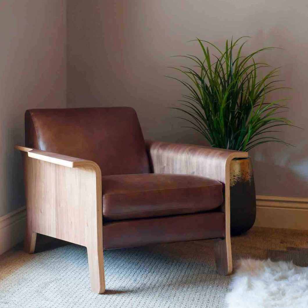 Gus* Modern Leather Lodge Chair