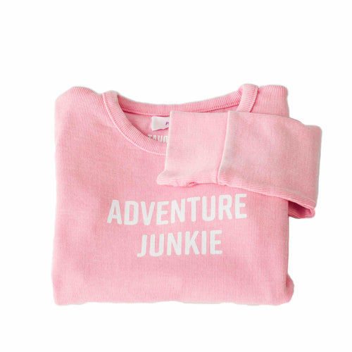 Kids Adventure Junkie Pink Thermal | Kids Tahoe Clothing | Kids Tahoe Apparel