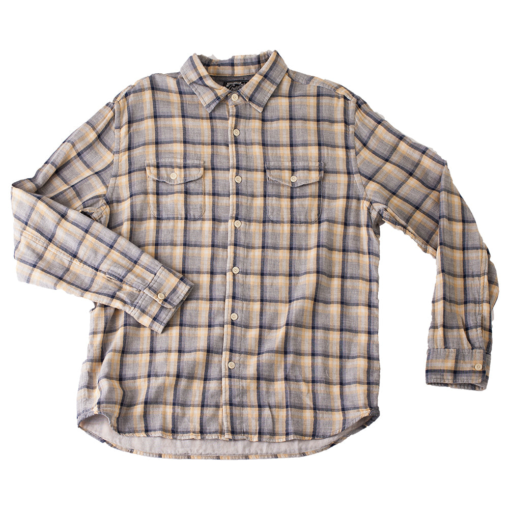 Grayers Yellowstone Gray Button Down Plaid Shirt