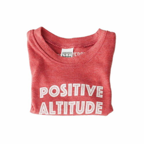 Kids Red Positive Altitude Tahoe T-Shirt | Tahoe Apparel | Tahoe Clothing | Kids Tahoe Clothing