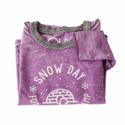 Kids Snow Day Fort Building Champ Long Sleeve T-Shirt | Kids Tahoe Clothing | Kids Tahoe Apparel