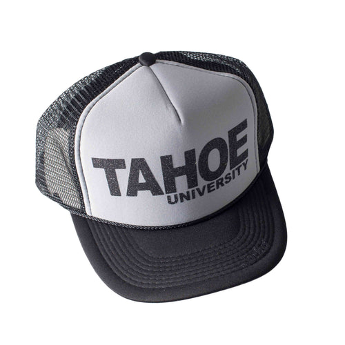 Tahoe University Black Trucker Hat