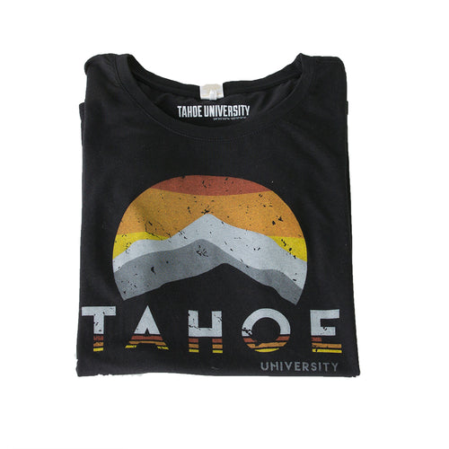 Women's Circle Mountain Black Tahoe T Shirt