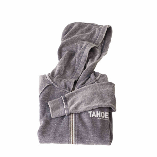 Kids Navy Happy Camper Zip Up Hoodie | Kids Tahoe Clothing | Kids Tahoe Apparel | Kids Tahoe Hoodie