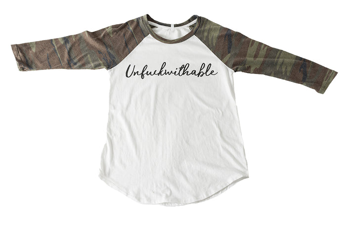Unf*ckwithable Camo Long Sleeve Women's T-Shirt