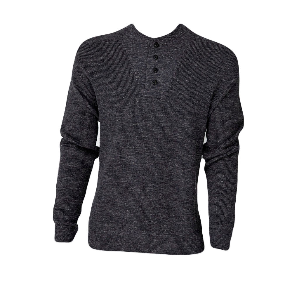 Wadsworth Textured Henley (Charcoal)