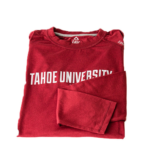 Tahoe University Brick Red Long Sleeve Running Shirt | Tahoe Clothing | Tahoe Apparel