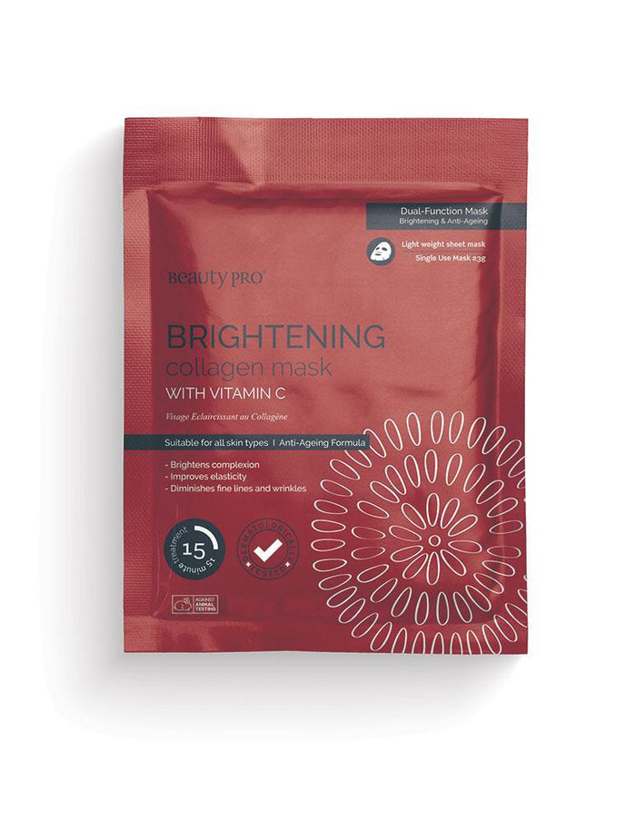Beauty Pro - BRIGHTENING Collagen Sheet Mask with Vitamin C