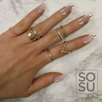 SOSU By Suzanne Jackson Stiletto Chromatic Nails